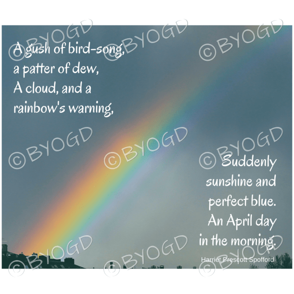 Quote image 73: A gush of bird-song, a patter of dew