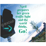 Quote image 75: April prepares her green traffic light