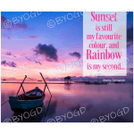 Quote image 78: Sunset is still my favourite colour, and
