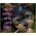 Quote image 100: Find your happiness in the simple