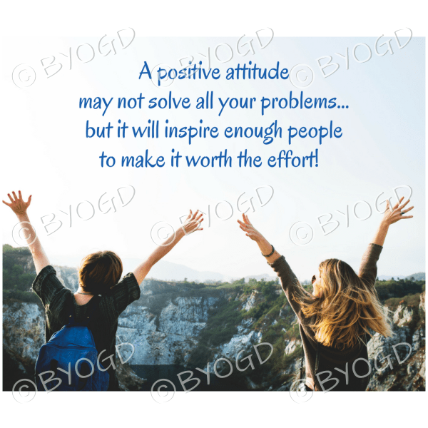 Quote image 110: A positive attitude may not solve