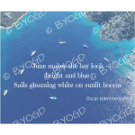 Quote image 121: June makes the bay look bright and blue