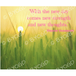 Quote image 127: With the new day comes new strength and