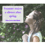 Quote image 129: Summer makes a silence after spring