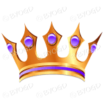Gold crown with purple jewels