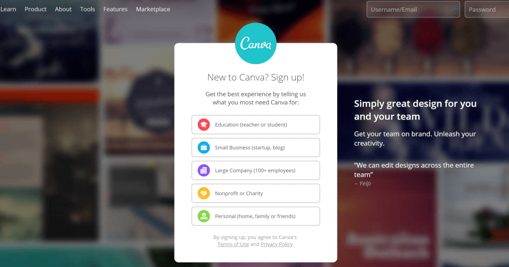How to open a free Canva account