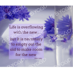Quote image 147: Life is overflowing with the new