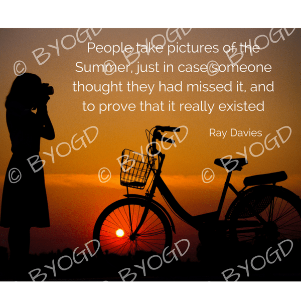 Quote image 165: People take pictures of the Summer