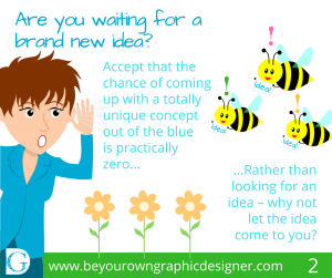 Step 2. Are you waiting for a brand new idea?