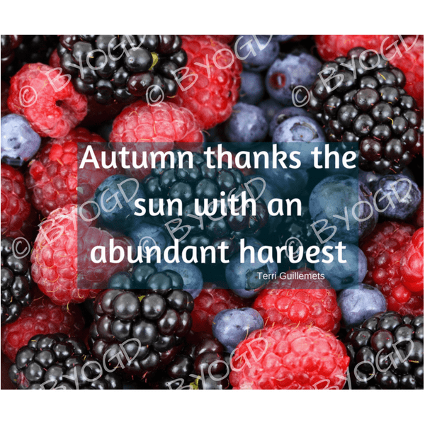 Quote image 190: Autumn thanks the sun with