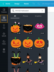 BYOGD Halloween on Canva