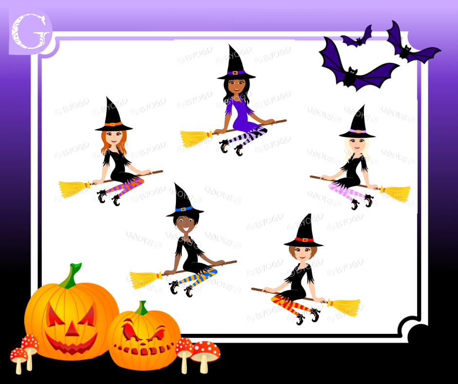 Bewtiching Witches - Halloween Images