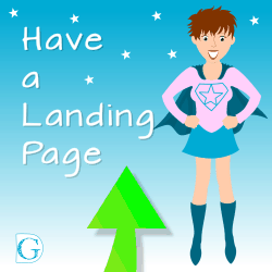 Have a landing page
