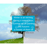 Quote image 197: Winter is an etching