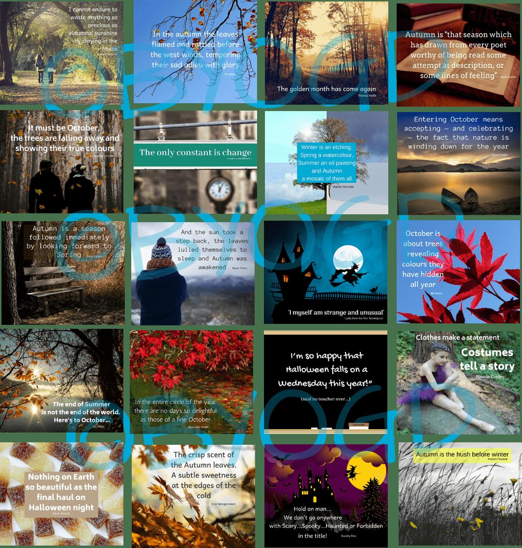 October Social Media Quotes Graphics