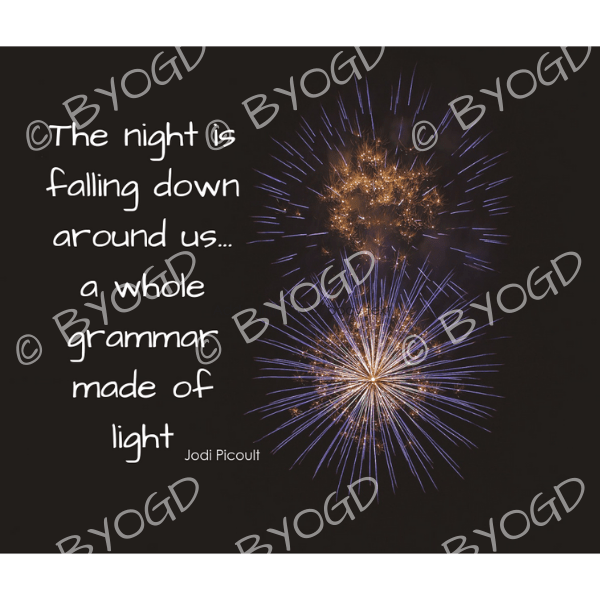 Quote image 221: The night is falling down around us