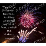 Quote image 222: We shall go wild with fireworks