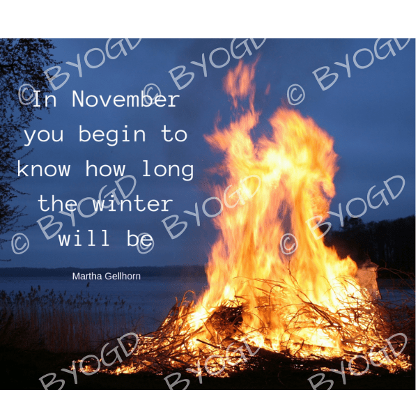 Quote image 224: In November you begin to know