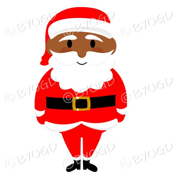 Dark skinned Santa Father Christmas