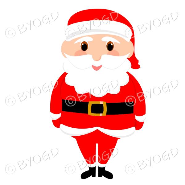 Santa Father Christmas with big eyes