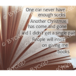 Quote image 231: One can never have enough socks