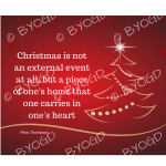 Quote image 238: Christmas is not an external event at all