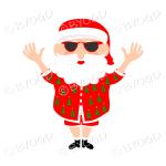 Australian Aussie Summer Santa Father Christmas in sunglasses
