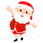 Australian Aussie Summer Santa Father Christmas dancing