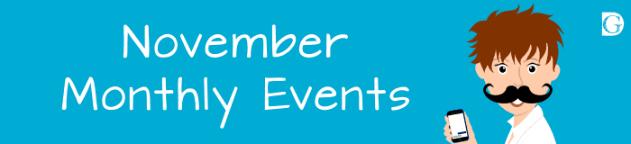 November monthly events