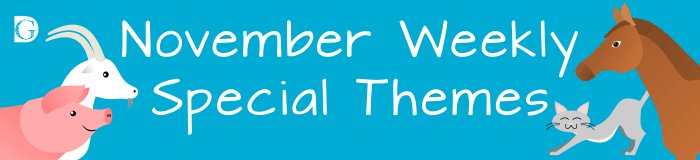 November Weekly Special themes