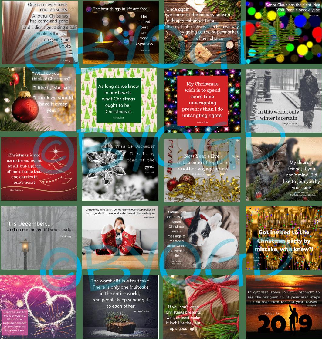 December Social Media Quotes Memes