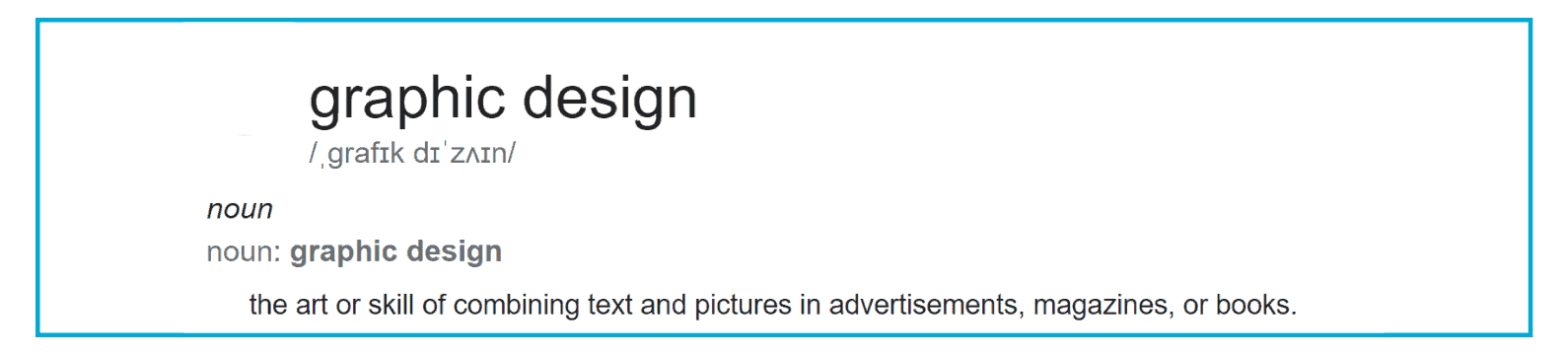 Graphic Design Dictionary Definition