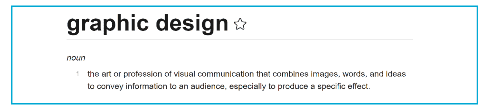 What is Graphic Design - Dictionary Definition