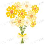 Bunch of yellow daisy-like flowers