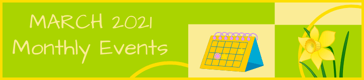 March 2021 Monthly Events