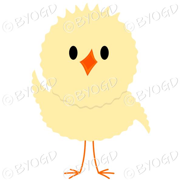 Chick waving