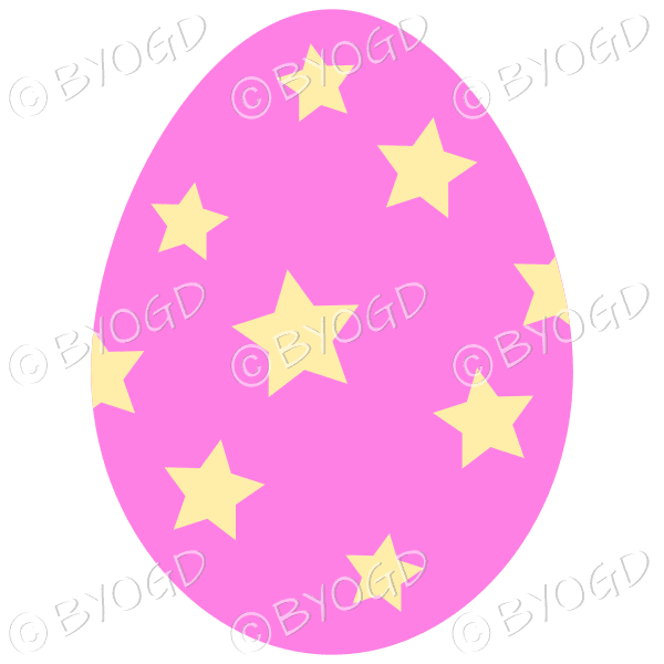 Pink Easter Egg with Yellow star decoration
