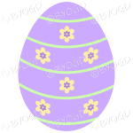 Purple Easter Egg with yellow and purple flower decoration