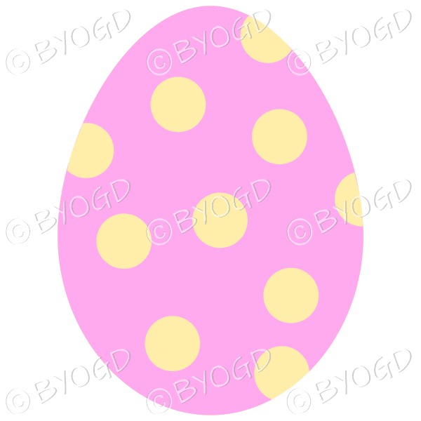 Pink Easter Egg with yellow spot decoration