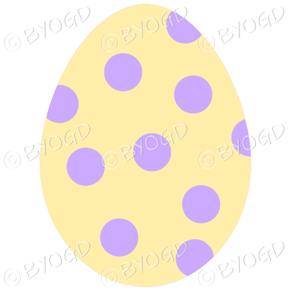 Yellow Easter Egg with purple spot decoration
