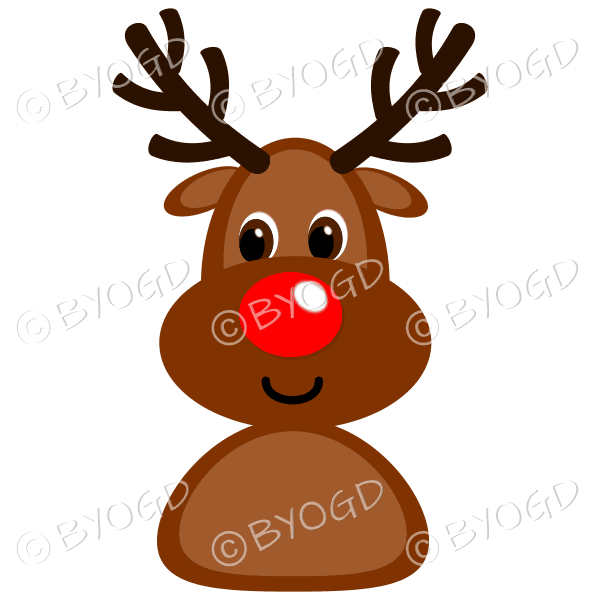 Christmas Rudolph the red nosed reindeer smiling