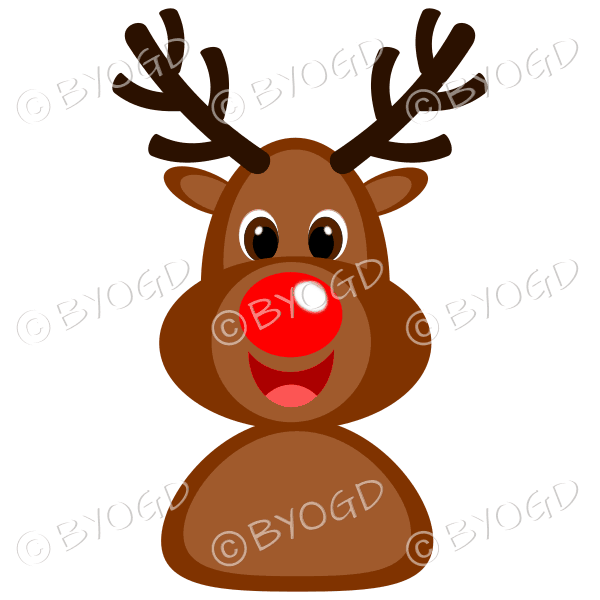 Christmas Rudolph the red nosed reindeer laughing