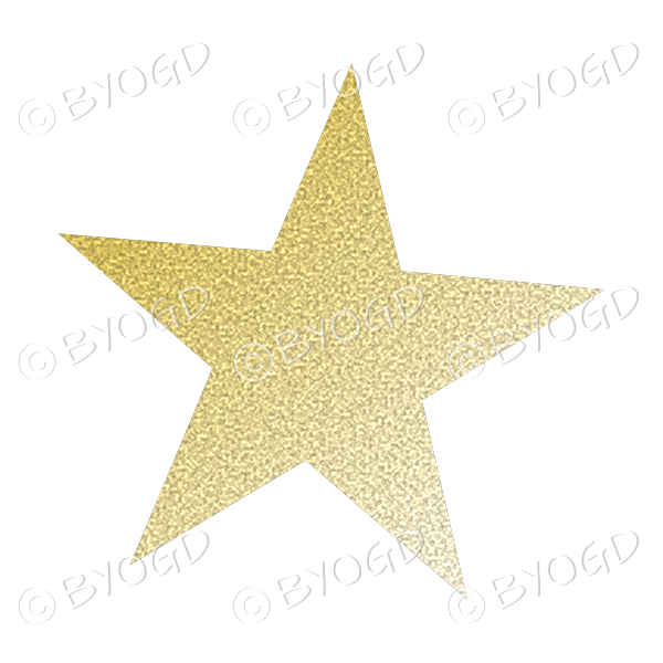 Pale Gold Glitter effect star.