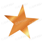 Gold Glitter effect star.