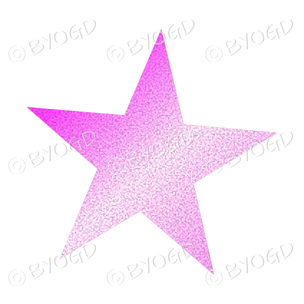Pink Glitter effect star.